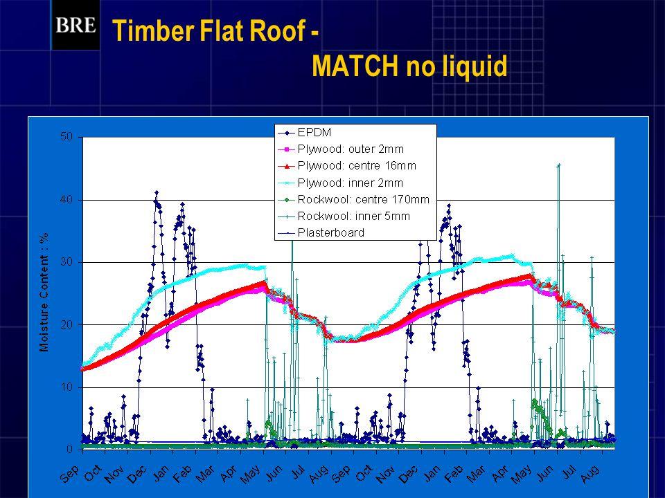 Timber Flat Roof - MATCH no liquid