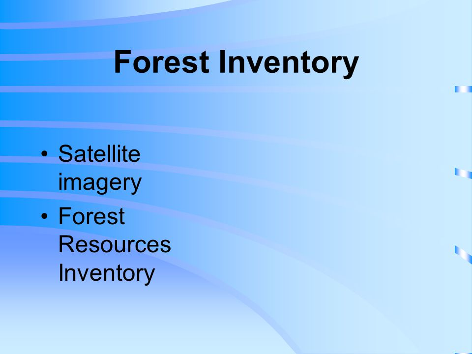 Forest Inventory Satellite imagery Forest Resources Inventory