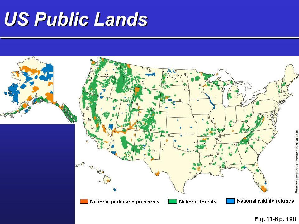 US Public Lands Fig. 11-6 p. 198