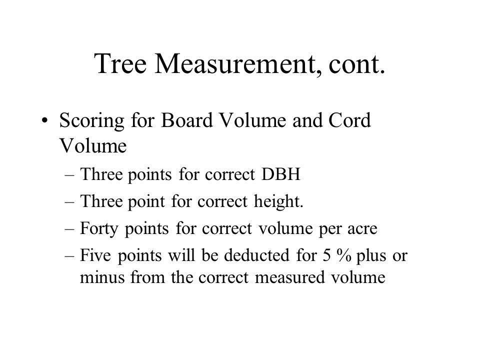Tree Measurement, cont.