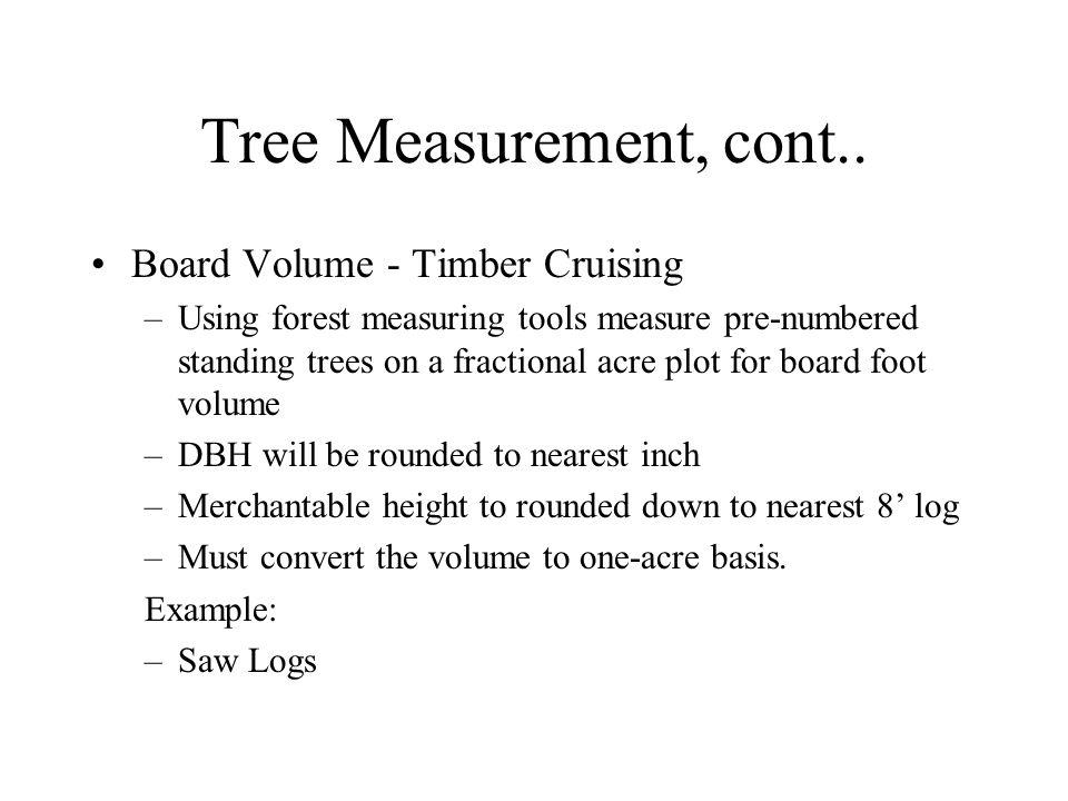 Tree Measurement, cont..