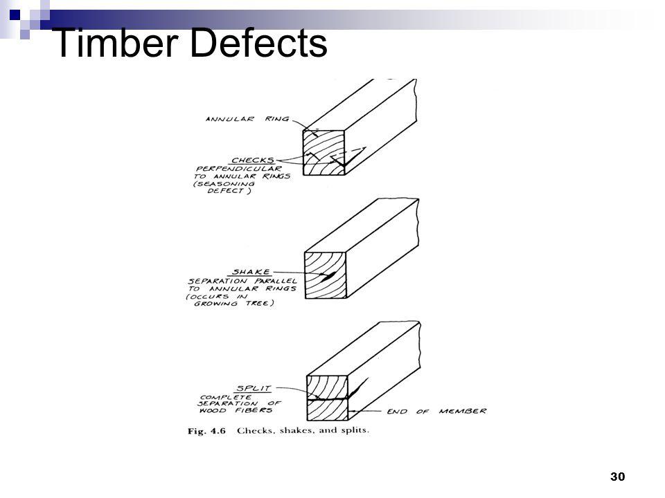 Penn State Unversity - CE 336 Tikalsky & Tepke30 Timber Defects