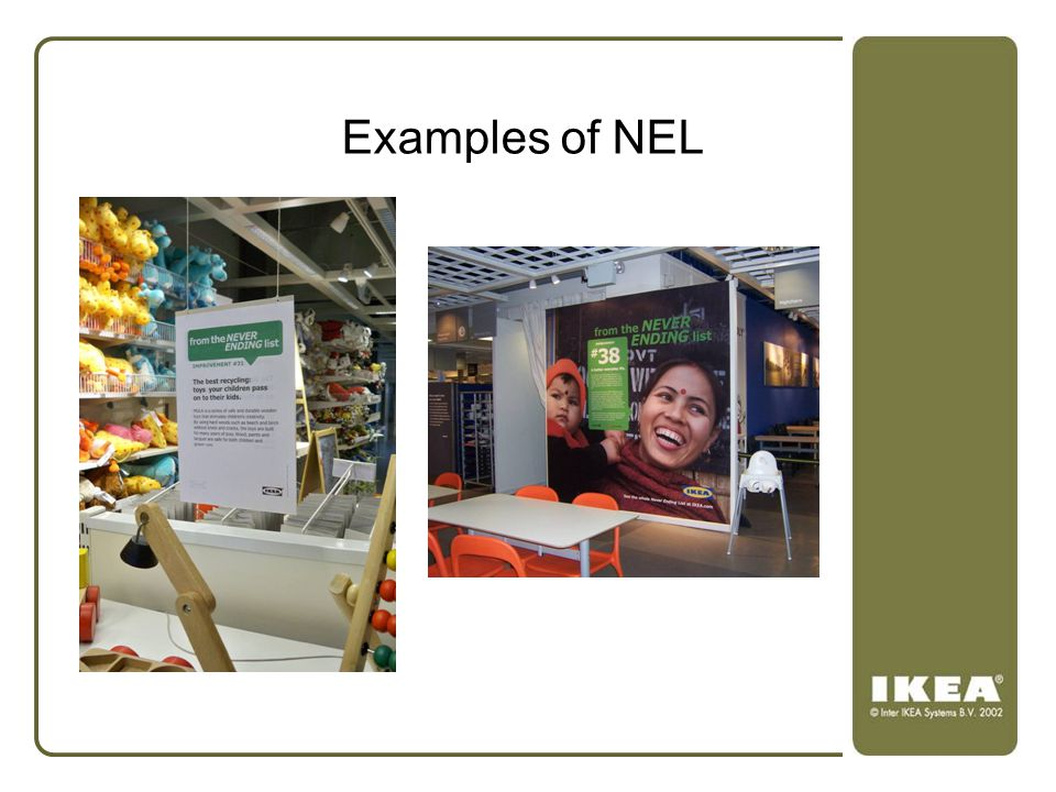 Examples of NEL