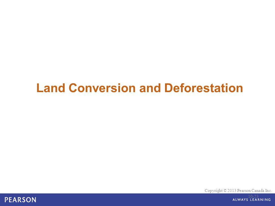© 2010 Pearson Education Canada Copyright © 2013 Pearson Canada Inc. Land Conversion and Deforestation 10-23