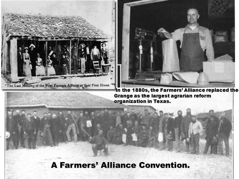 A Farmers' Alliance Convention.