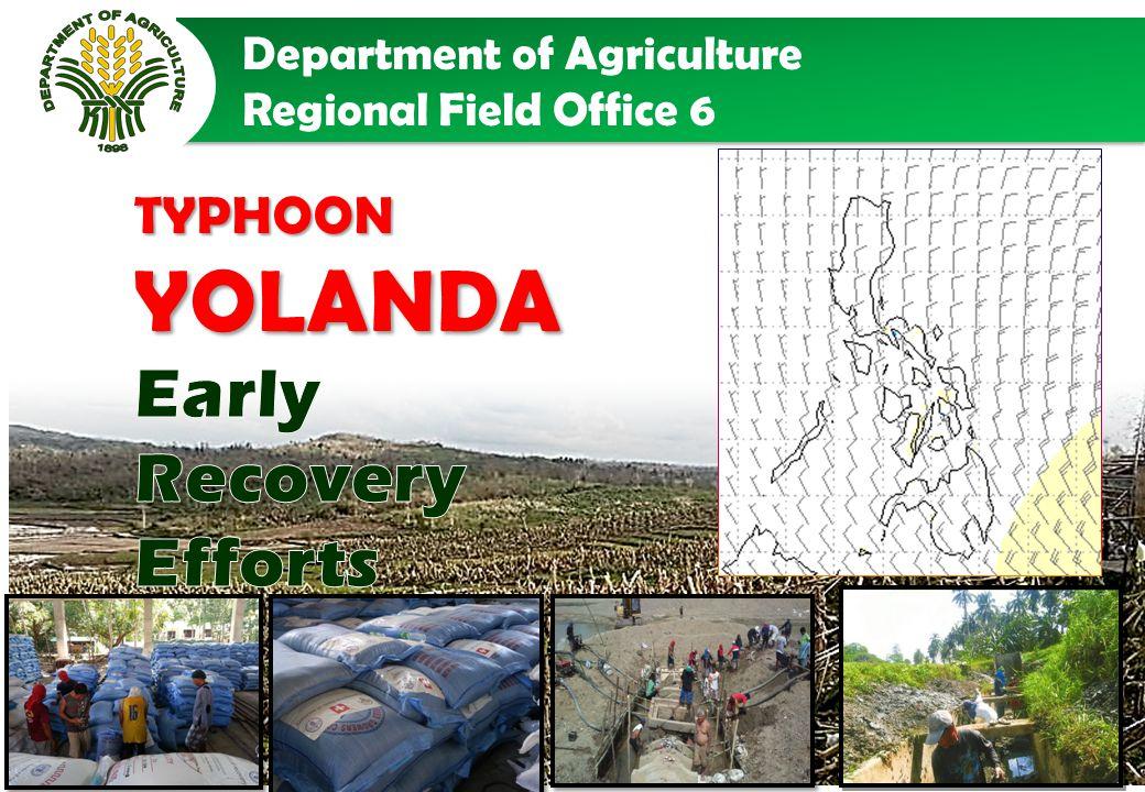 SUMMARY OF EARLY RECOVERY EFFORTS ON TYPHOON YOLANDA WESTERN VISAYAS Php 39,535,334.72 TOTAL COST: (DA,PCA, FIDA & FAO)