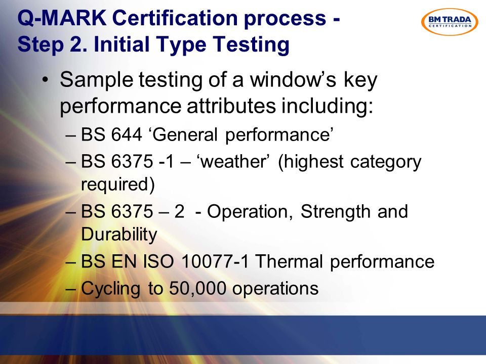 Q-MARK Certification process - Step 2.