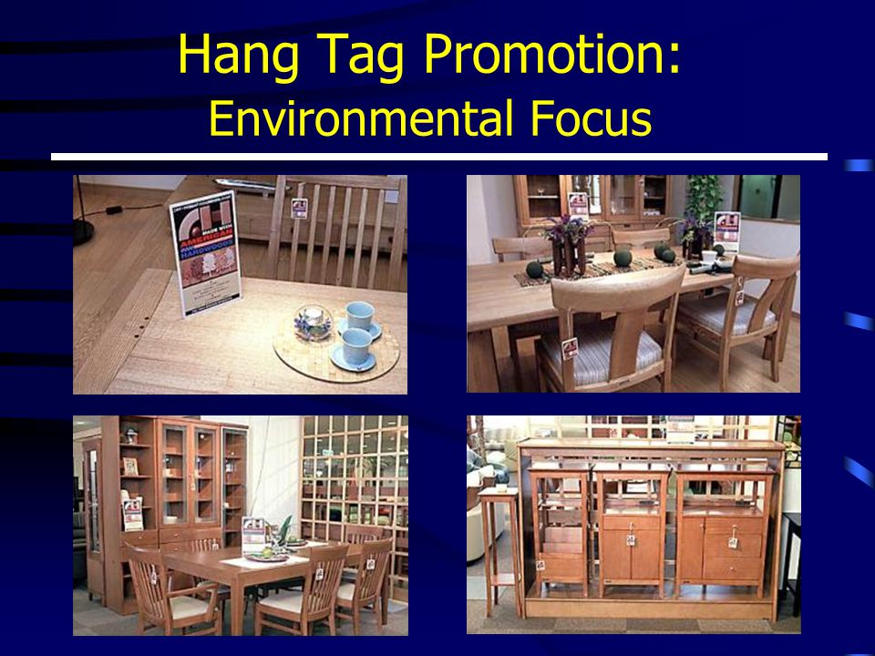 Hang Tag Promotion: Environmental Focus