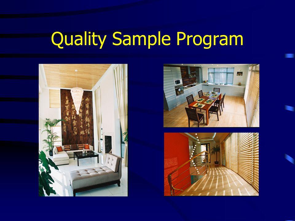 Quality Sample Program
