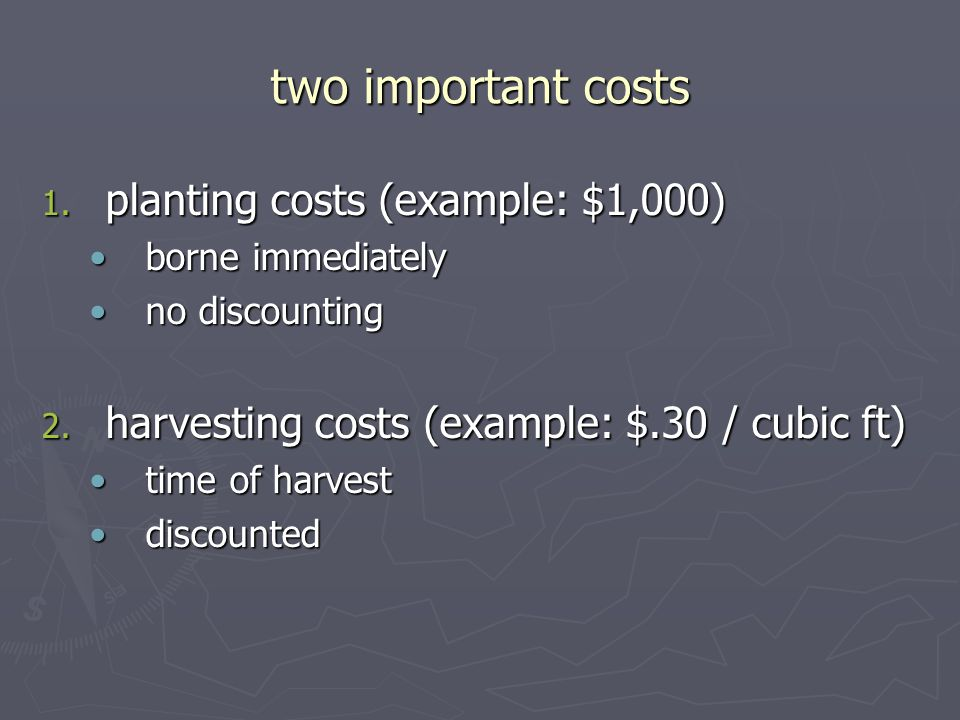 two important costs 1.