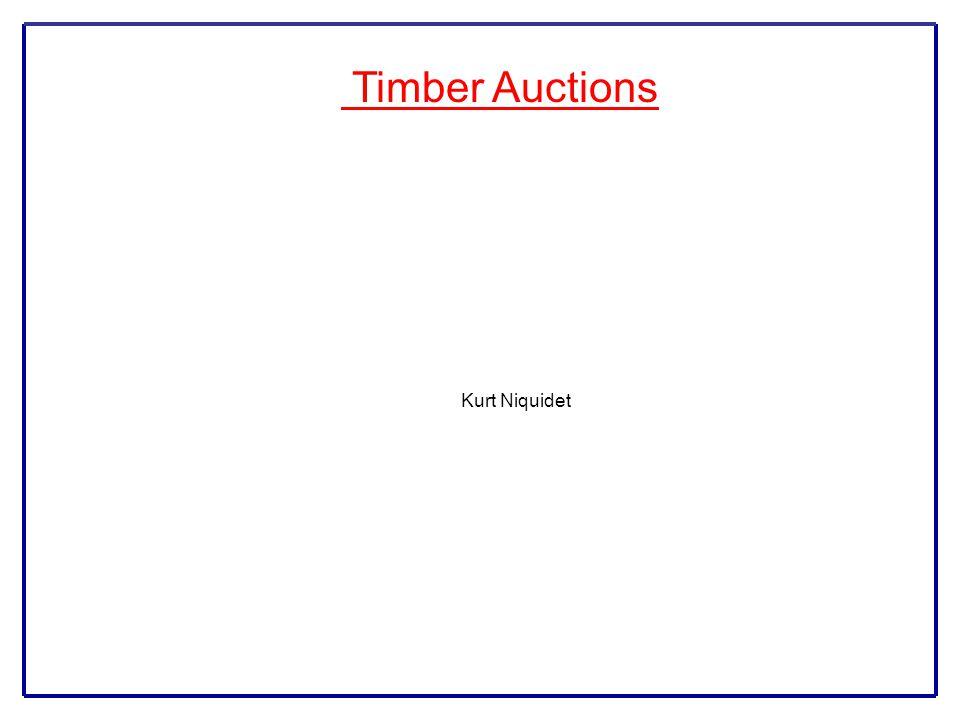 Timber Auctions Kurt Niquidet