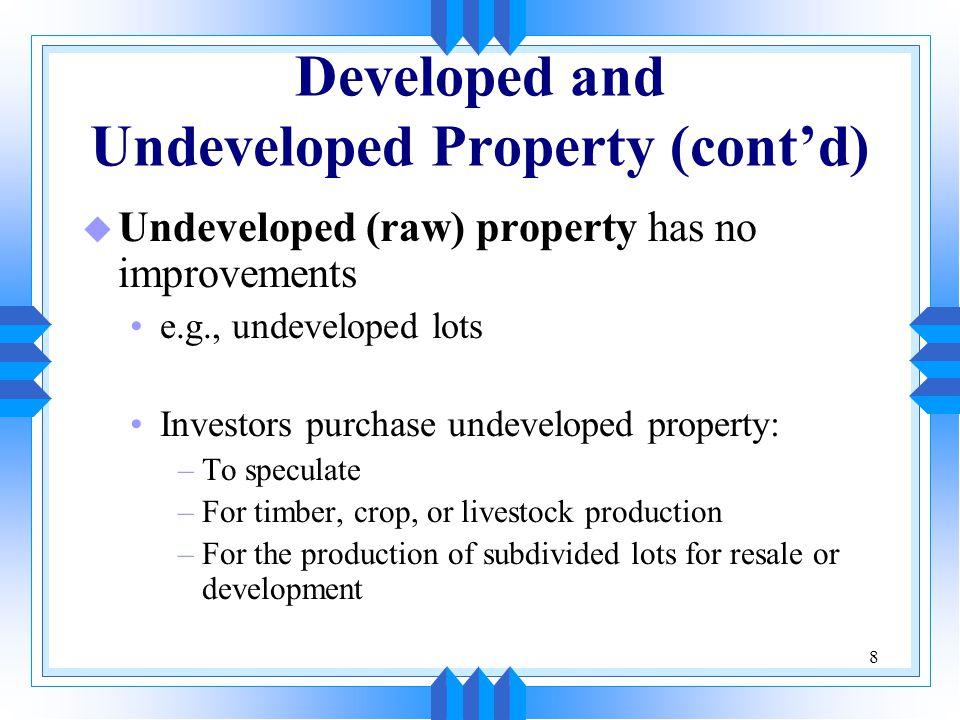9 Pension Fund Investment in Real Estate u U.S.