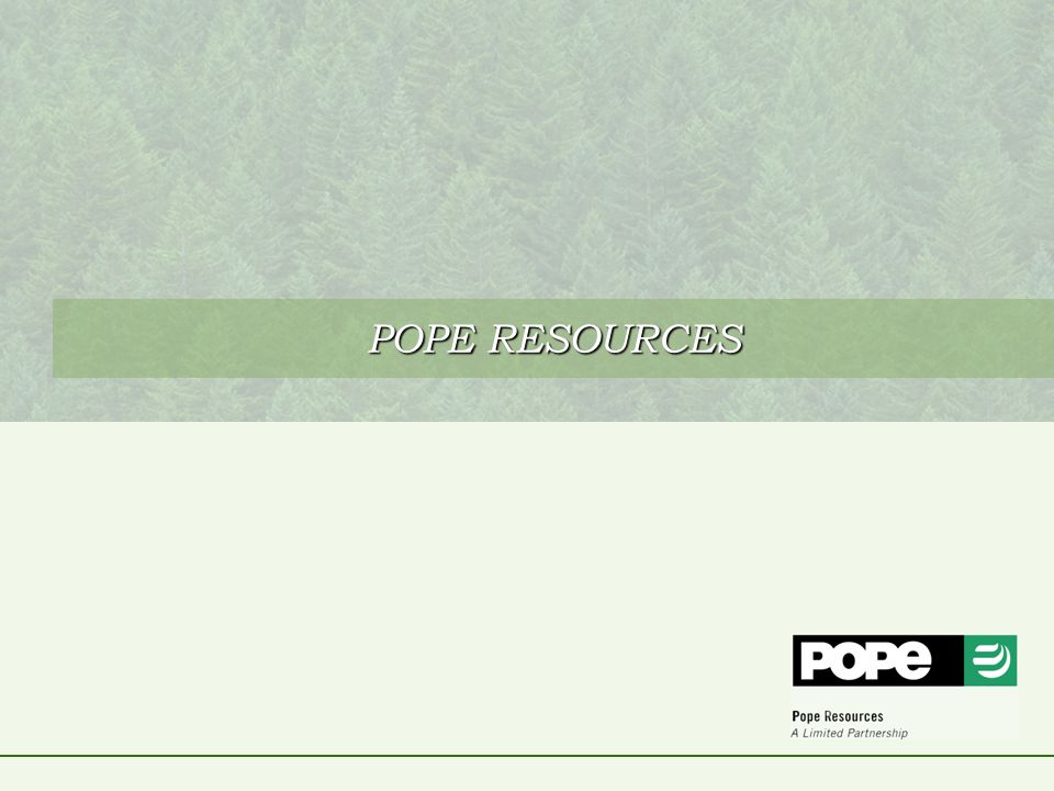 POPE RESOURCES