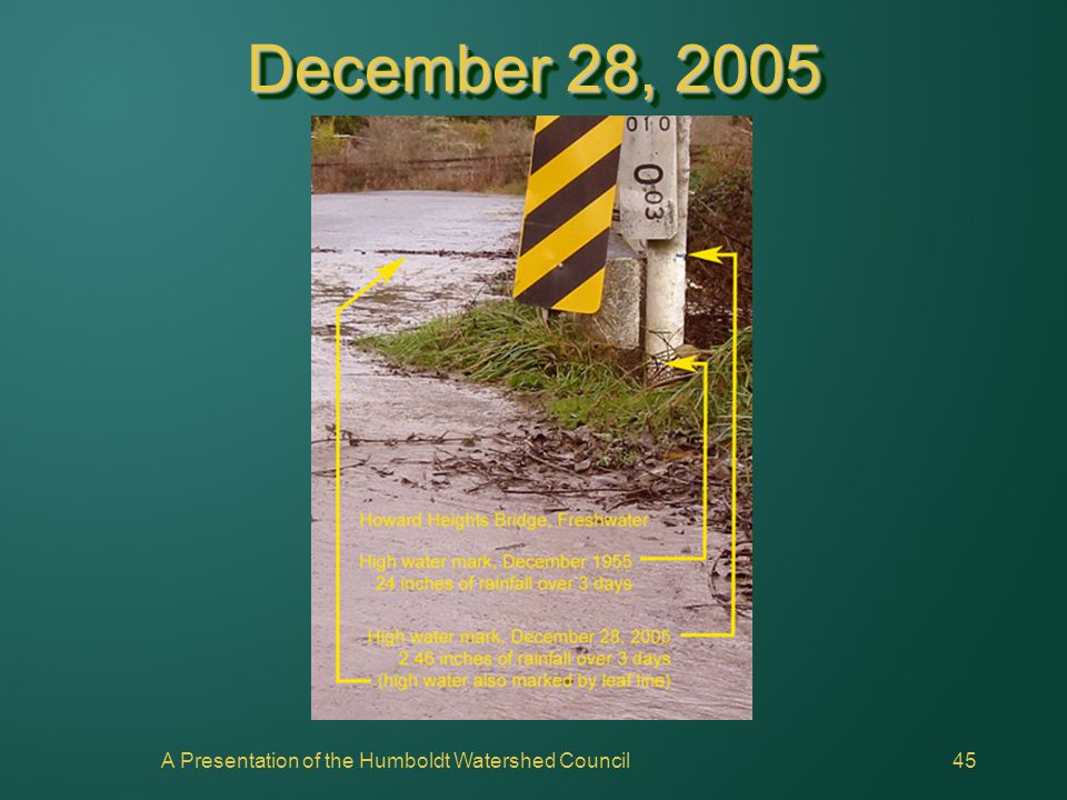A Presentation of the Humboldt Watershed Council45 December 28, 2005