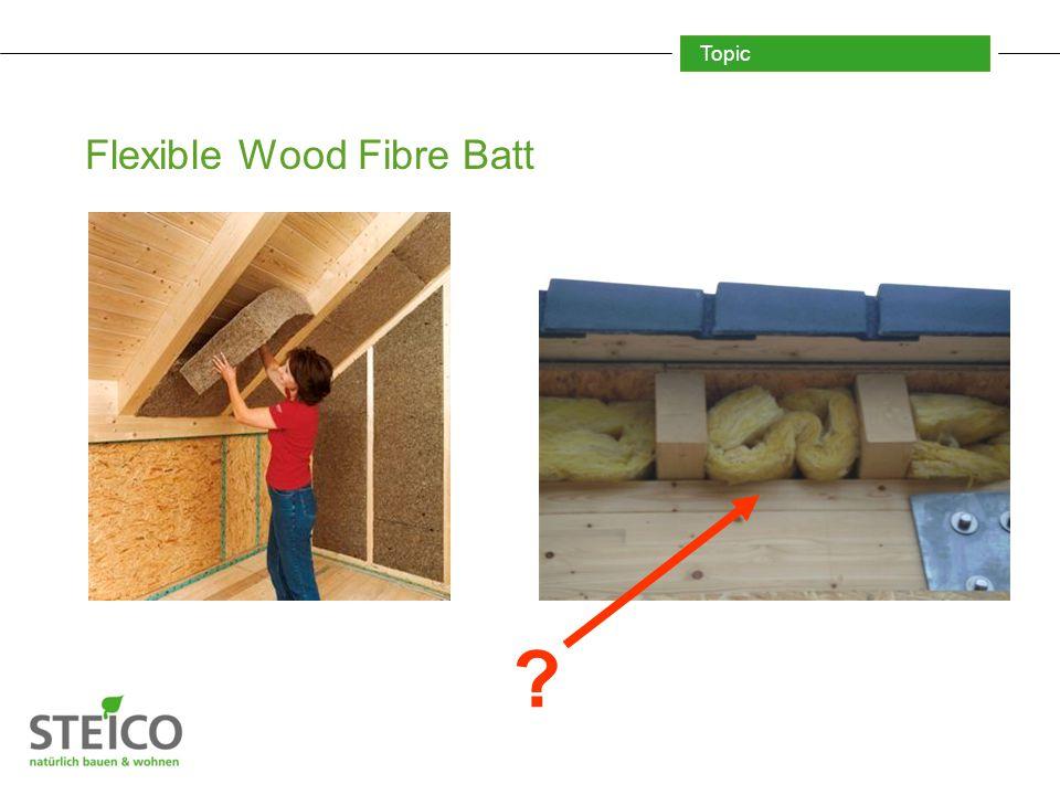 Topic Flexible Wood Fibre Batt