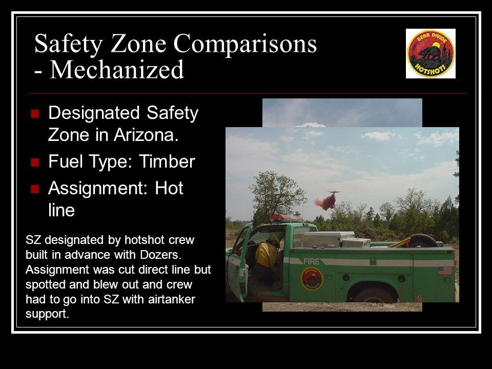 Safety Zone Comparisons - Mechanized Designated Safety Zone in Arizona.