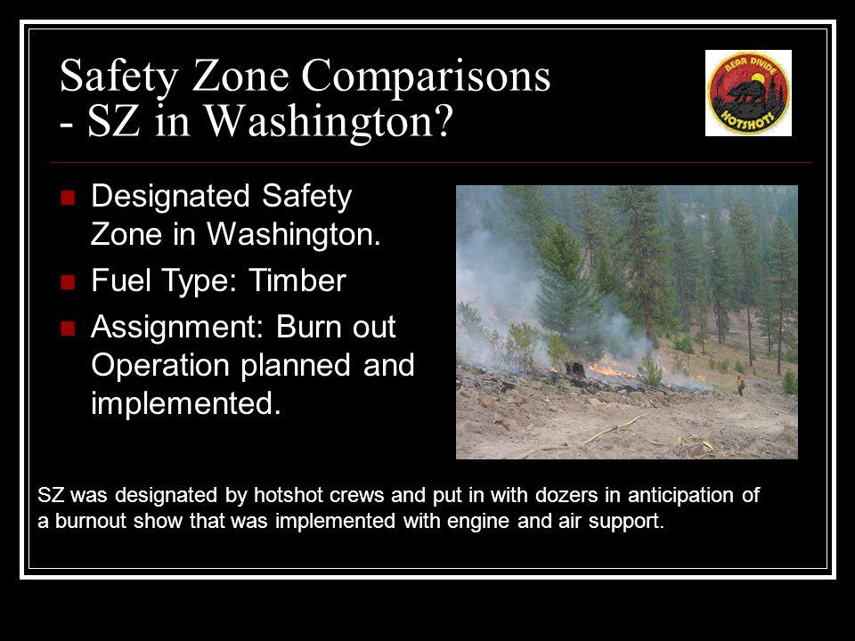 Safety Zone Comparisons - SZ in Washington. Designated Safety Zone in Washington.
