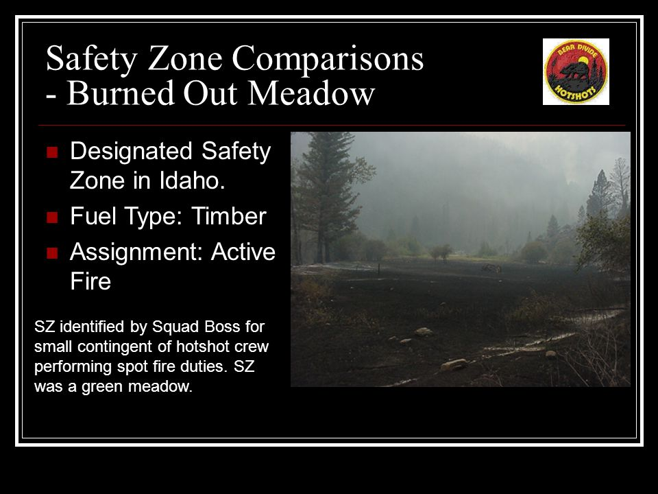 Safety Zone Comparisons - Green Meadow Designated Safety Zone in Montana.