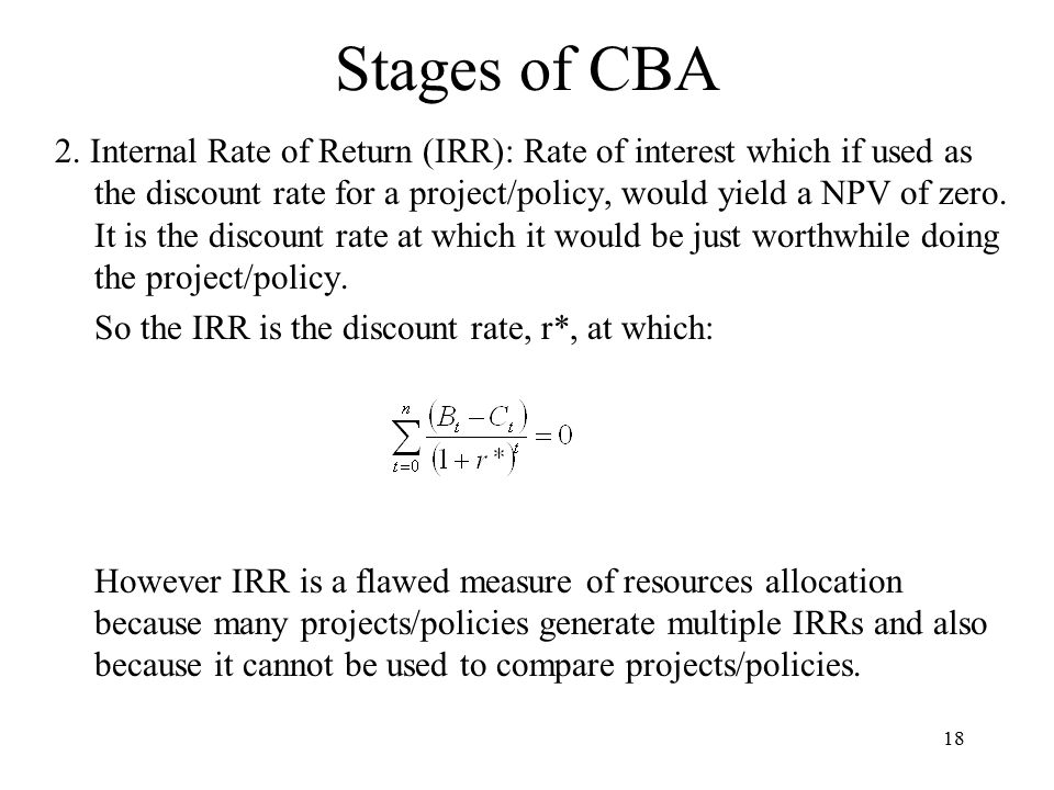 18 Stages of CBA 2.