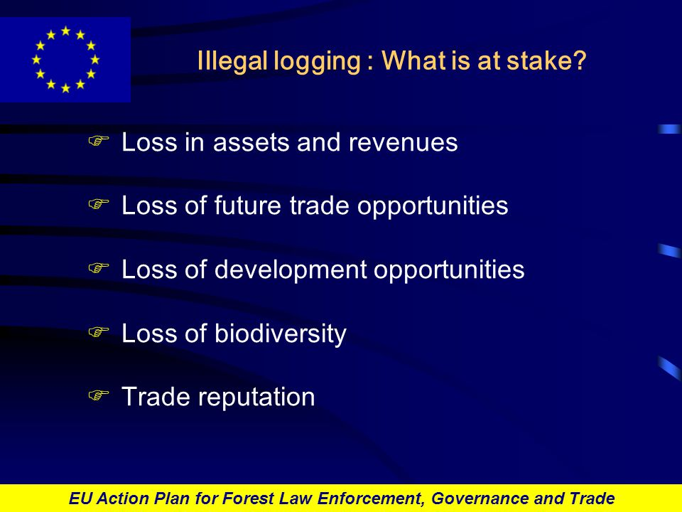 EU Action Plan for Forest Law Enforcement, Governance and Trade Illegal logging : What is at stake.