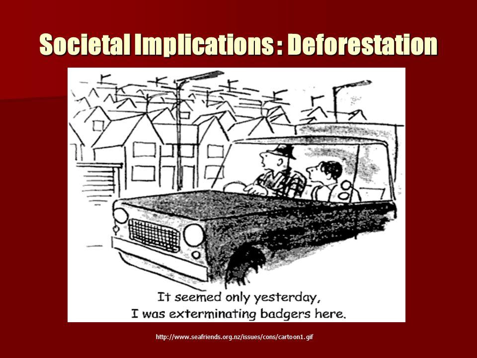 Societal Implications : Deforestation http://www.seafriends.org.nz/issues/cons/cartoon1.gif
