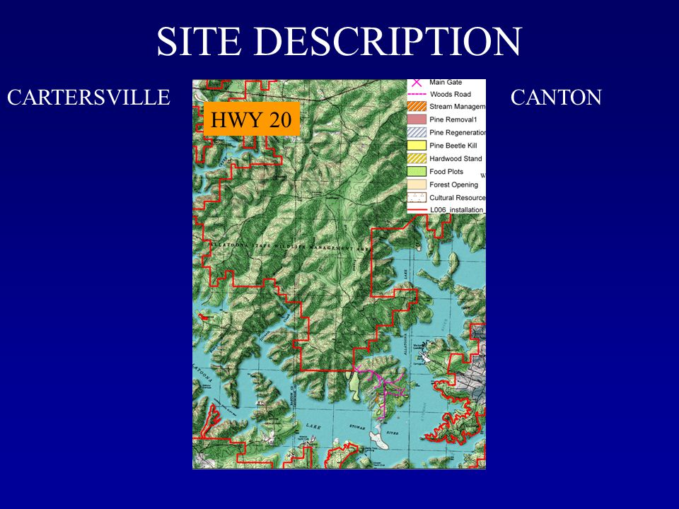 SITE DESCRIPTION HWY 20 CARTERSVILLECANTON