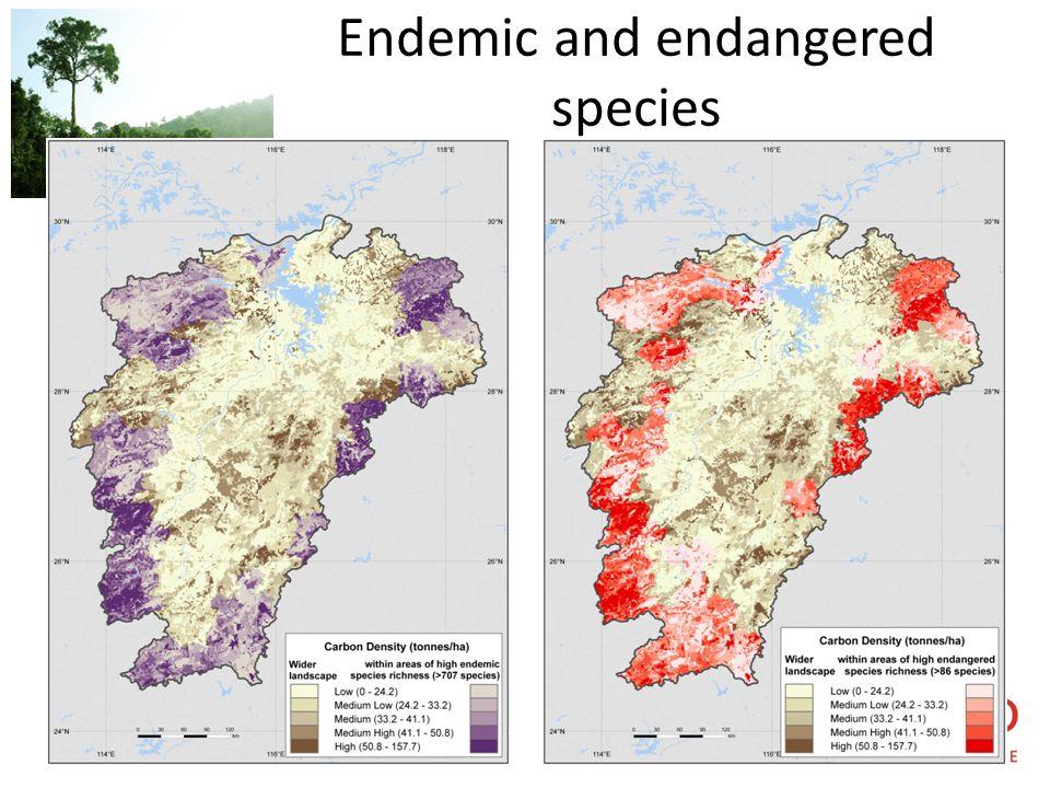 UN-REDD P R O G R A M M E Endemic and endangered species