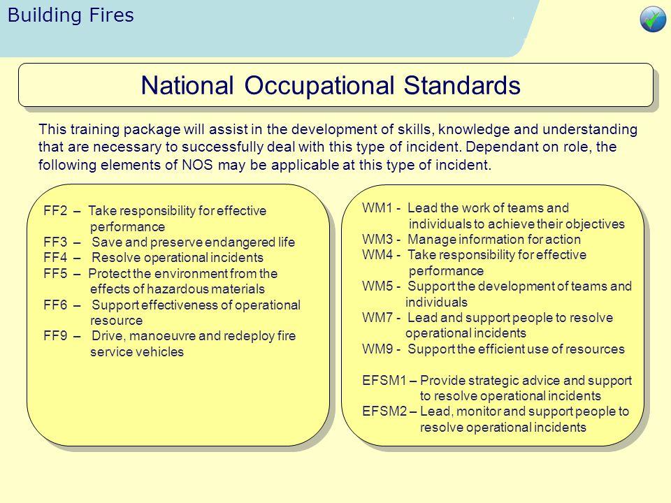 Building Fires Relevant References National Occupational Standards Close Presentation
