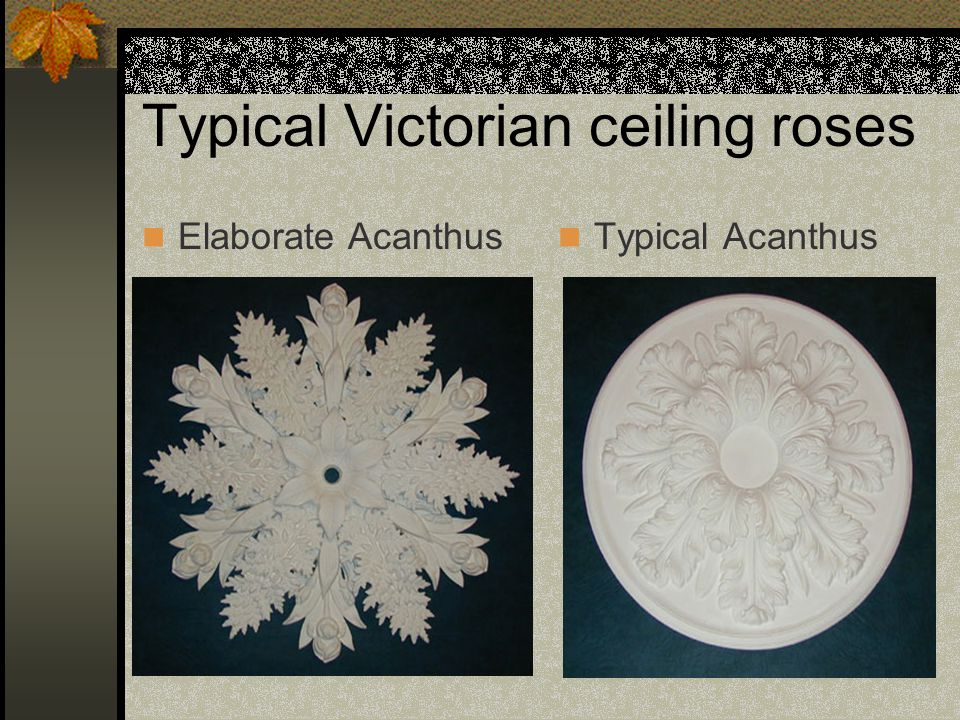 Typical Victorian ceiling roses Elaborate Acanthus Typical Acanthus