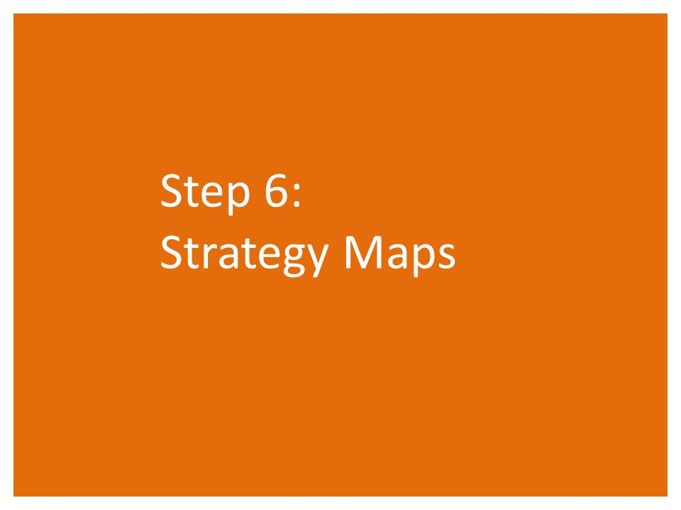 Step 6: Strategy Maps