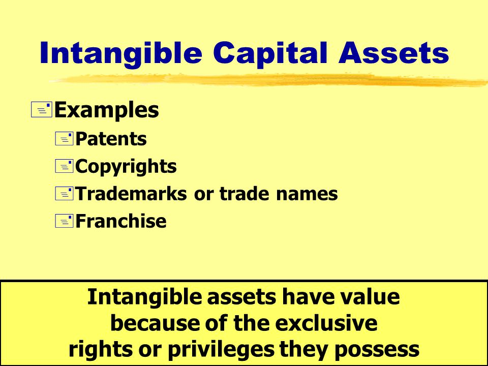 13 Tangible Capital Assets +Examples +Property, plant, and equipment +Land +Buildings +Machinery and equipment +Furniture and fixtures +Natural resour