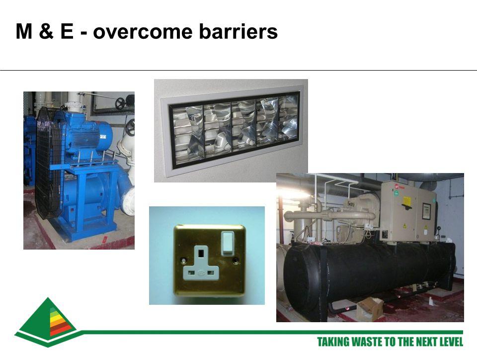 M & E - overcome barriers