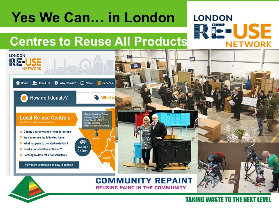 Yes We Can… in London Centres to Reuse All Products