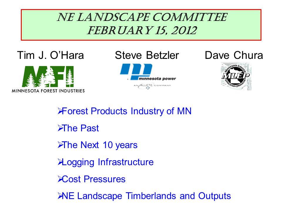 NE Landscape Committee, Feb 15, 2012 Cost Pressures--Transportation