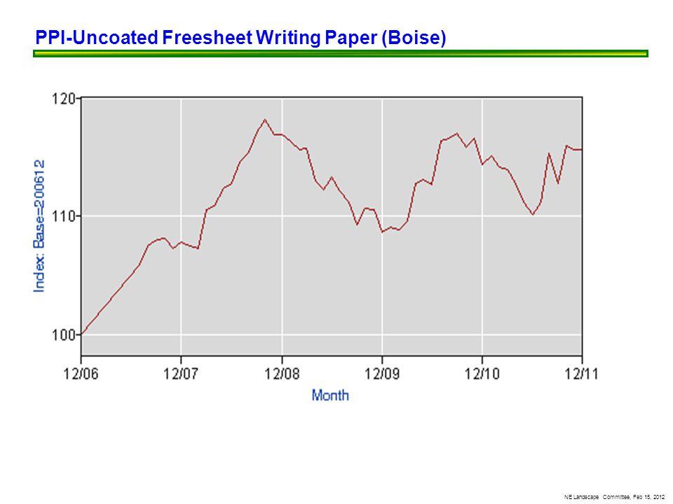 NE Landscape Committee, Feb 15, 2012 PPI-Uncoated Freesheet Writing Paper (Boise)