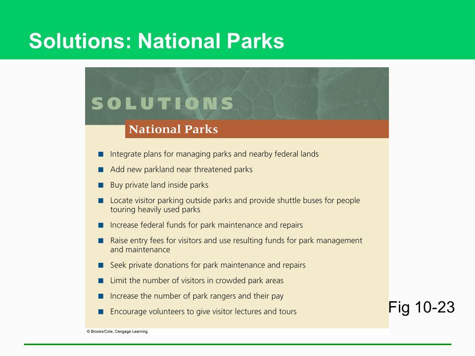 Solutions: National Parks Fig 10-23