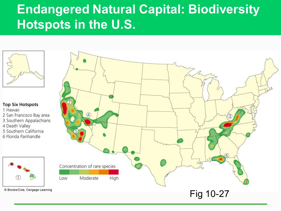 Endangered Natural Capital: Biodiversity Hotspots in the U.S. Fig 10-27