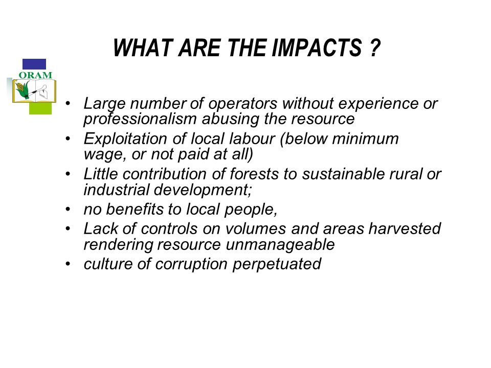 WHAT ARE THE IMPACTS .
