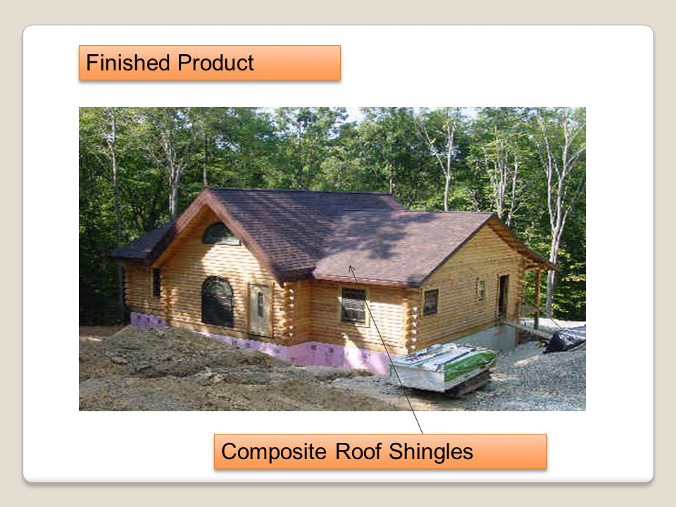 Finished Product Composite Roof Shingles