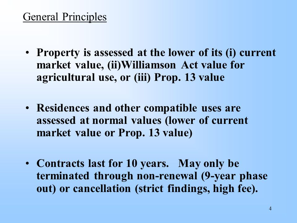 15 Non-Renewal Procedures for Substandard Parcels All substandard parcels will be non-renewed in 2006 (will take effect in 2007) Owner has 60 days to protest notice of non- renewal.