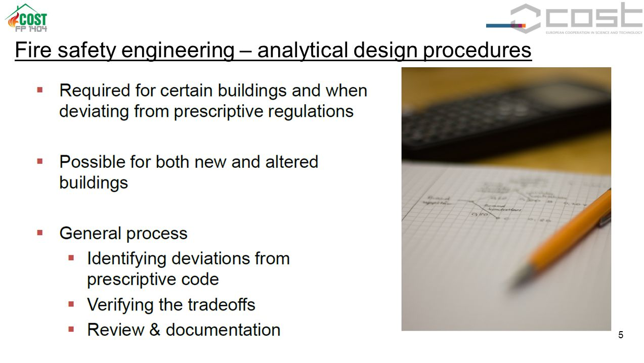 5 Fire safety engineering – analytical design procedures