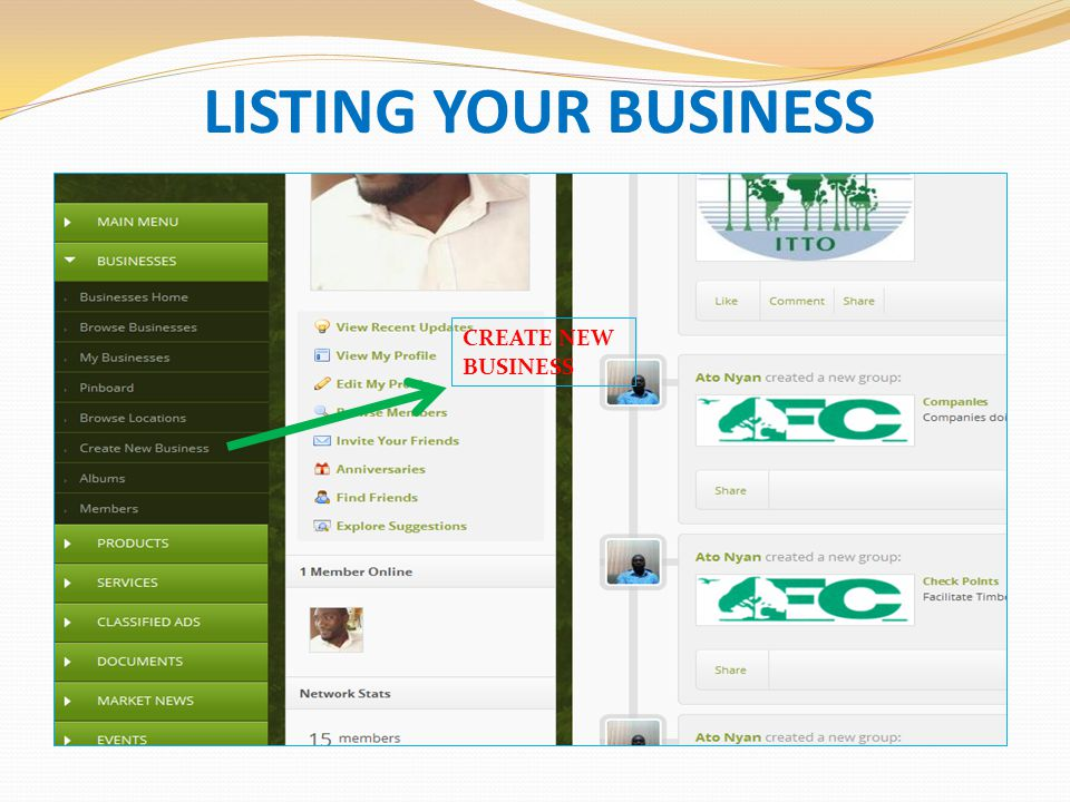 LISTING YOUR BUSINESS CREATE NEW BUSINESS