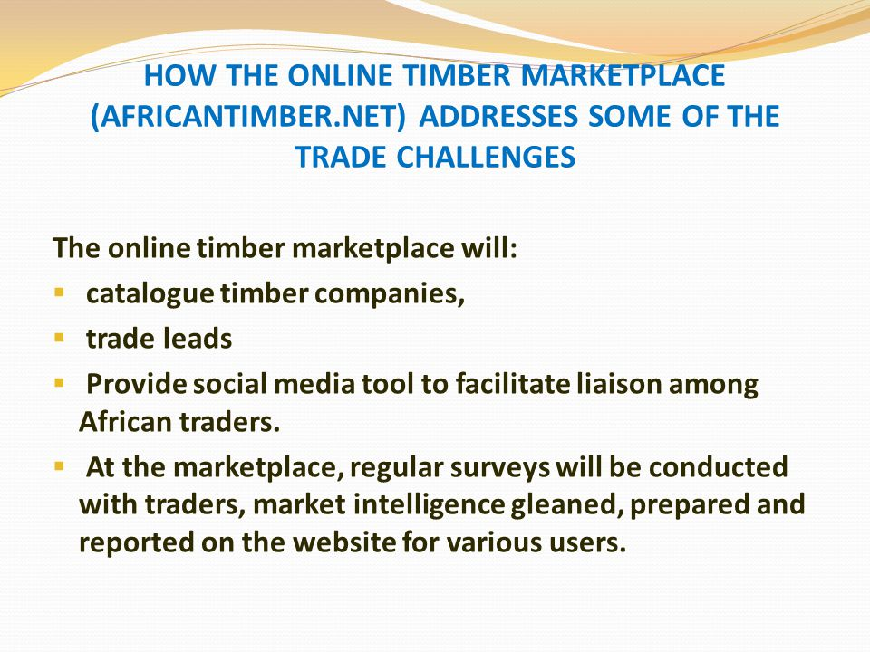 OVERVIEW OF 'AFRICANTIMBER.NET'