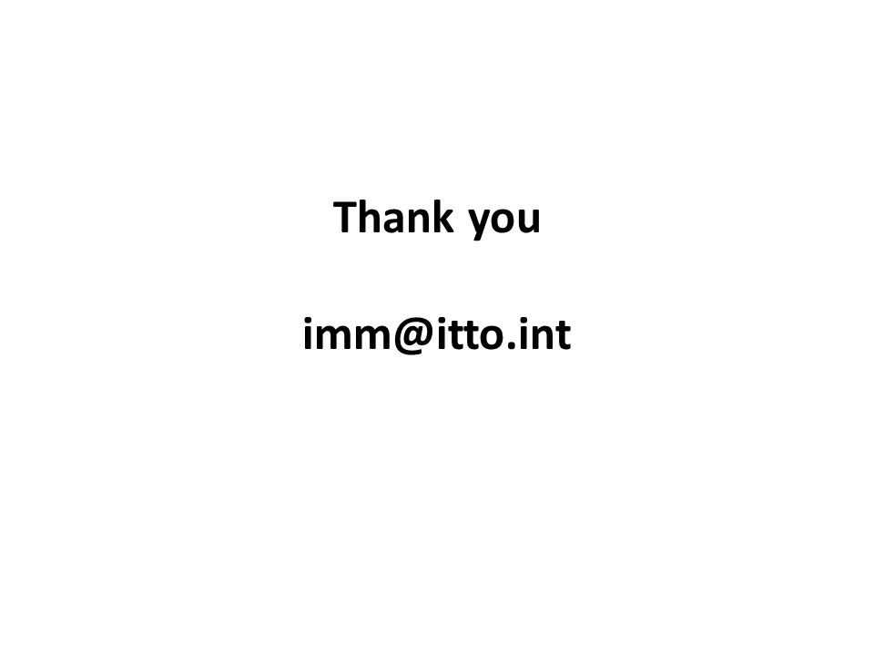 Thank you imm@itto.int