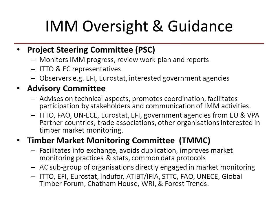 IMM Methodology Framework (currently in draft) of 52 indicators for quantitative assessment of market impacts