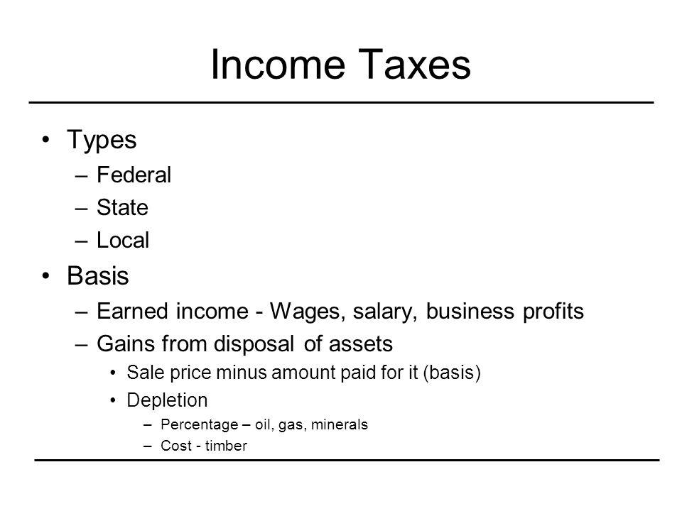 Sales Tax Types –Federal Pittman-Robertson tax on ammunition, etc.