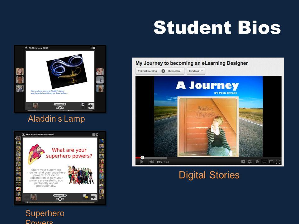 Student Bios Aladdin's Lamp Superhero Powers Digital Stories