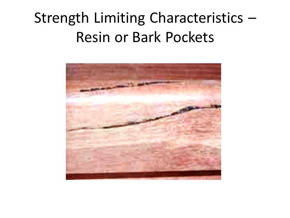 Strength Limiting Characteristics – Resin or Bark Pockets
