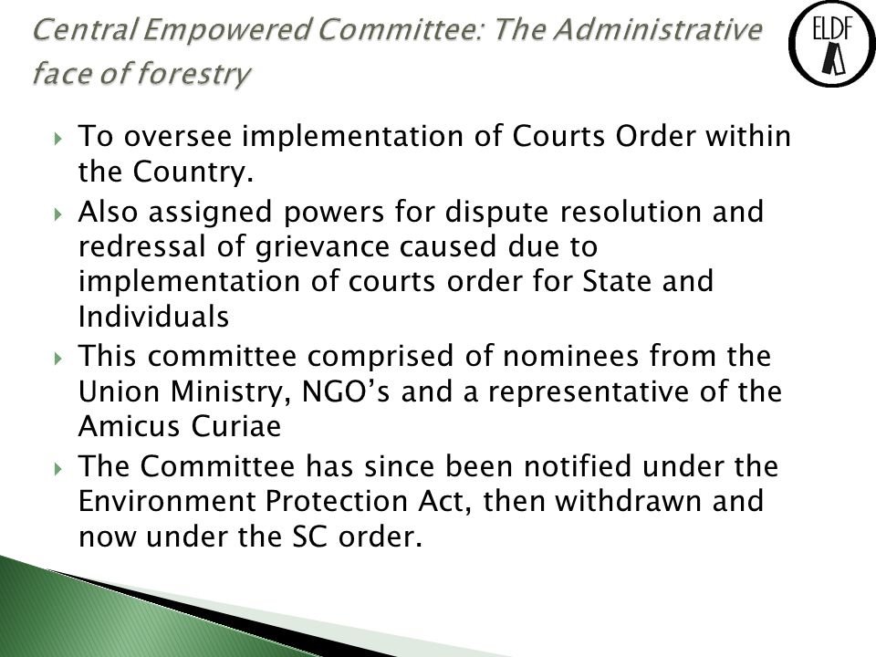  To oversee implementation of Courts Order within the Country.