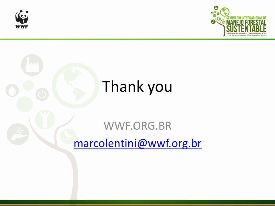 Thank you WWF.ORG.BR marcolentini@wwf.org.br